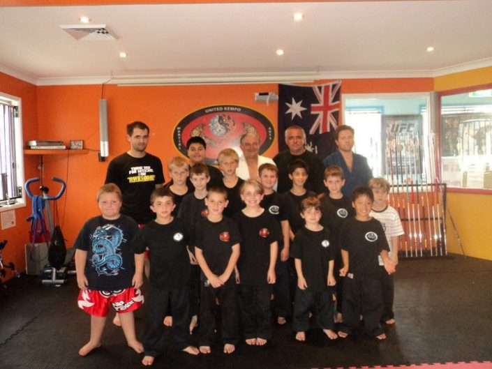 Junior Students With the Italian Olyimpic Judo Coach